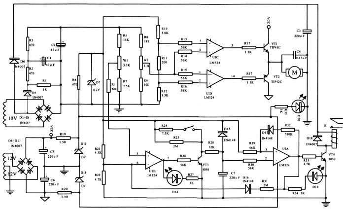 单相稳压器控制板原理图
