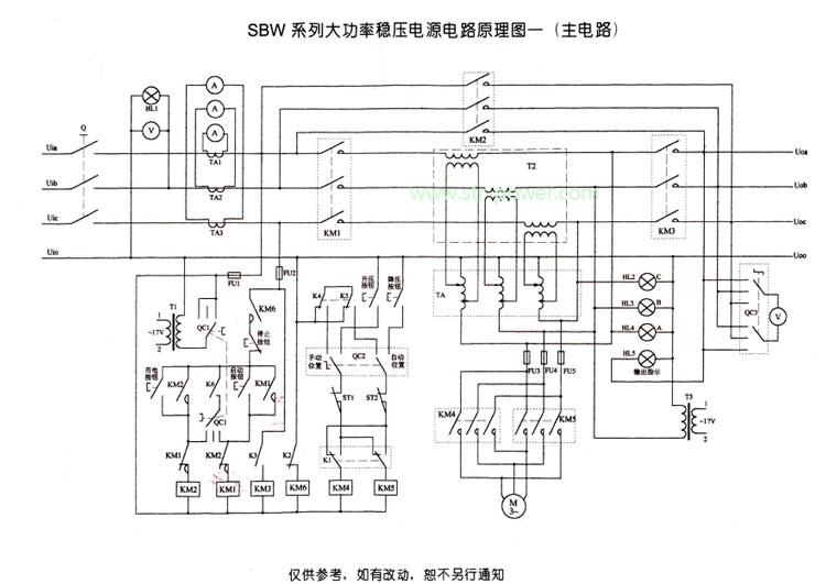 则检测电路从稳压 器输出端取得采样信号,而给出控制指令使伺服电机